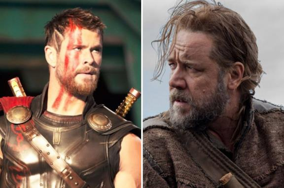 Chris Hemsworth e Russell Crowe