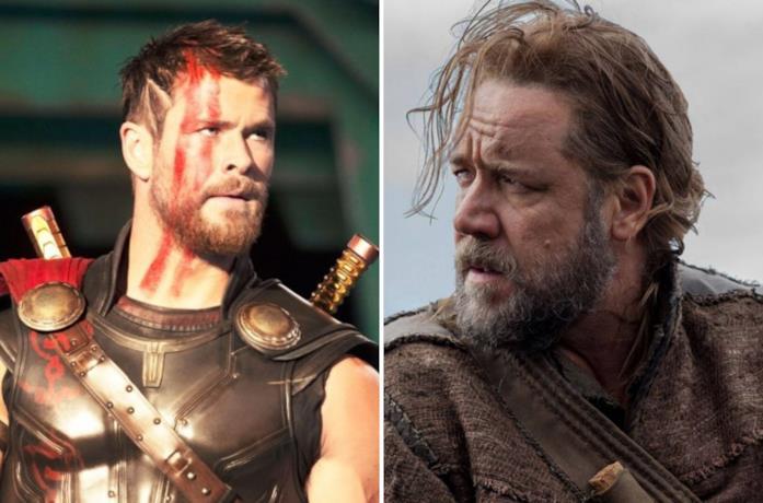 Chris Hemsworth e Russell Crowe