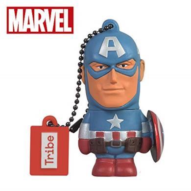 Chiavetta USB 16 GB Captain America - Memoria Flash Drive 2.0 Originale Marvel Avengers, Tribe FD016501