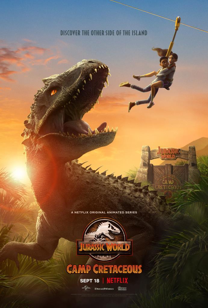 Uno dei dinosauri del Jurassic World: Camp Cretaceus