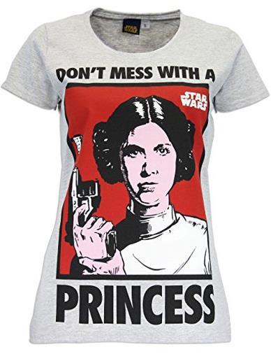Maglietta a maniche corta da donna - Principessa Leia - Medium