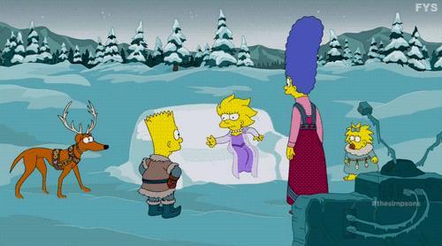 Lisa costruisce un castello di ghiaccio in stile Frozen