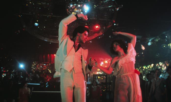 Una scena de La febbre del sabato sera, film musicale del 1977