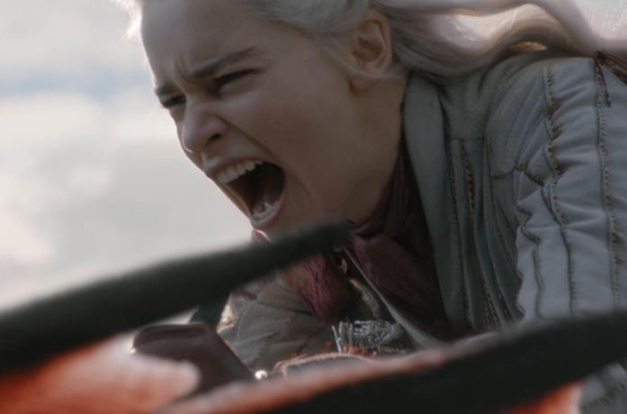 Emilia Clarke in Game of Thrones 8x04