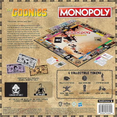 I contenuti del Monopoly dei Goonies
