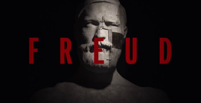 La testa di Freud nella sigla dell'episodio 8 è un collage di pezzi rattoppati insieme