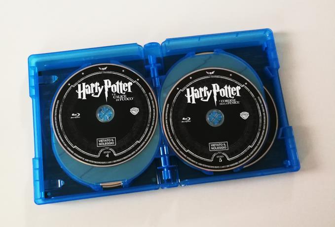 Interno del box di Harry Potter con due dischi