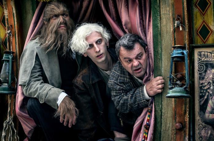 I tre protagonisti del film Freaks Out di Gabriele Mainetti