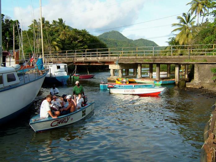 Il fiume Indian, set di Pirati dei Caraibi - La maledizione del forziere fantasma