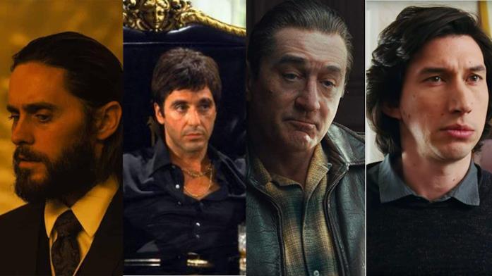 Le foto degli attori Adam Driver, Jared Leto, Al Pacino e Robert De Niro