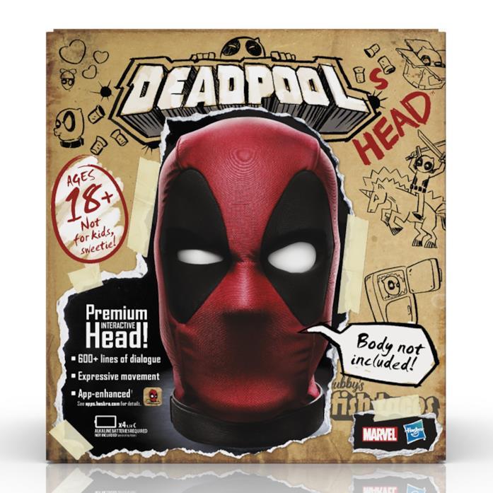 Il box che contiene la testa di Deadpool
