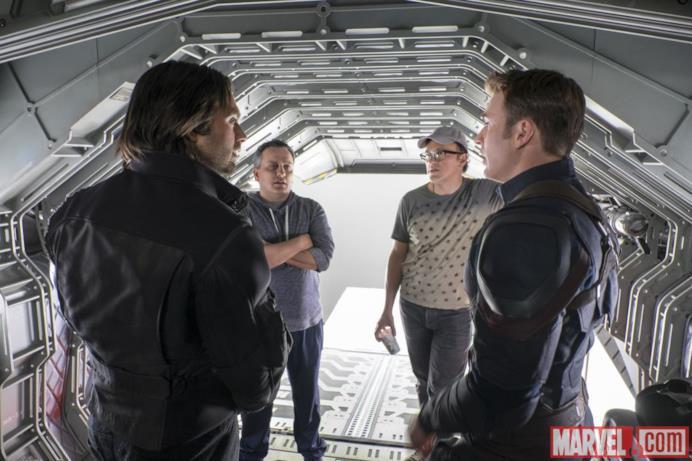 I registi di Capitan America: Civil War con Stan ed Evans