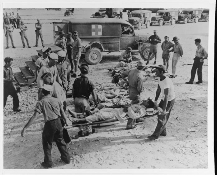 Il salvataggio dei sopravvissuti della USS Indianapolis