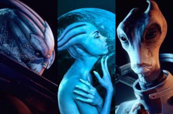 Alcune delle specie di Mass Effect Legendary Edition