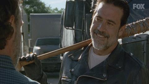 Primo piano di Jeffrey Dean Morgan in The Walking Dead
