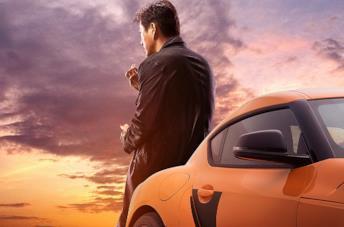 Han in un poster promozionale di Fast & Furious 9
