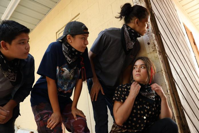 I quattro giovani protagonisti della serie TV Reservation Dogs