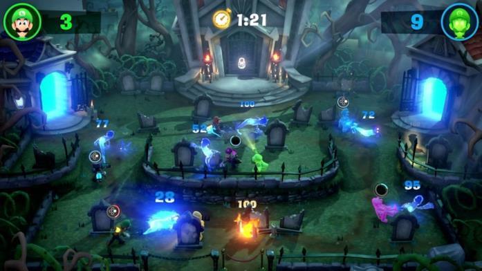 Luigi's Mansion modalità multiplayer