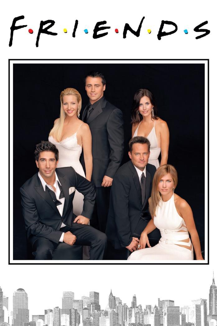Il cast nella locandina di Friends