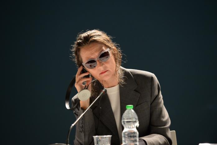 Lucrecia Martel durante la conferenza stampa