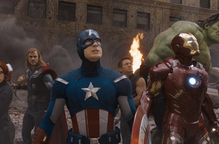 Un'immagine dei Vendicatori nel film The Avengers