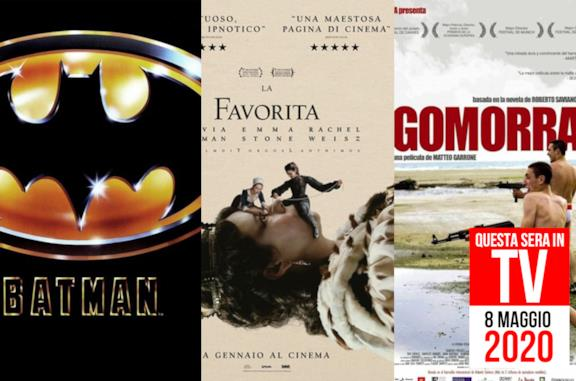 Film in TV stasera: 8 maggio con Batman, Gomorra e La favorita
