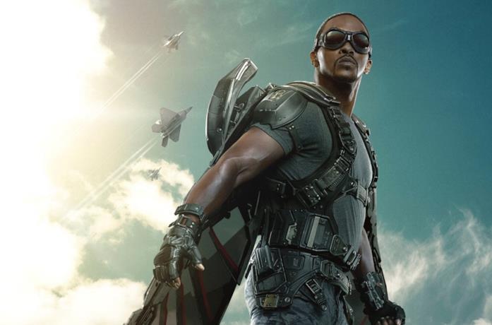 Un'immagine di Anthony Mackie come Falcon