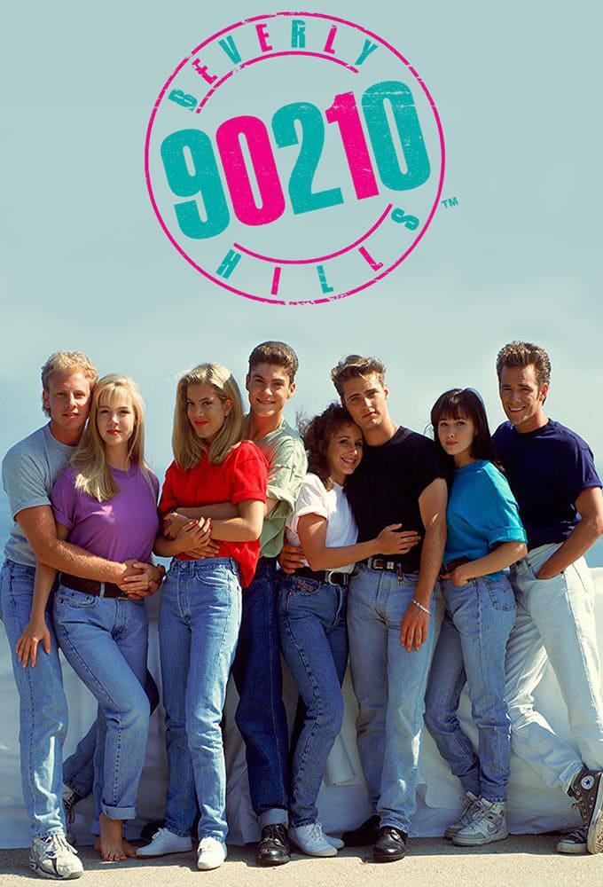 Il cast di Beverly Hills 90210 nella locandina