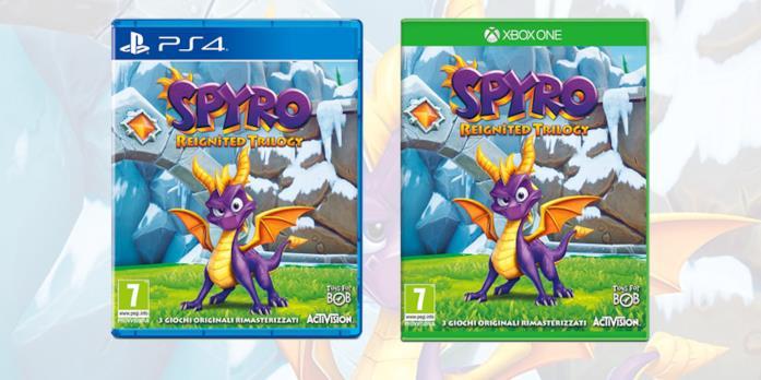 La boxart di Spyro Reignited Trilogy su PS4 e Xbox One