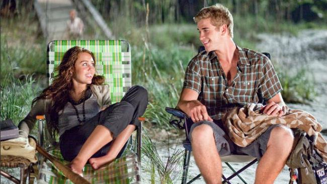 Miley Cyrus e Liam Hemsworth in The last song