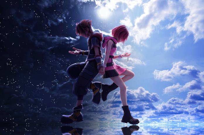 Sora e Kairi in Kingdom Hearts