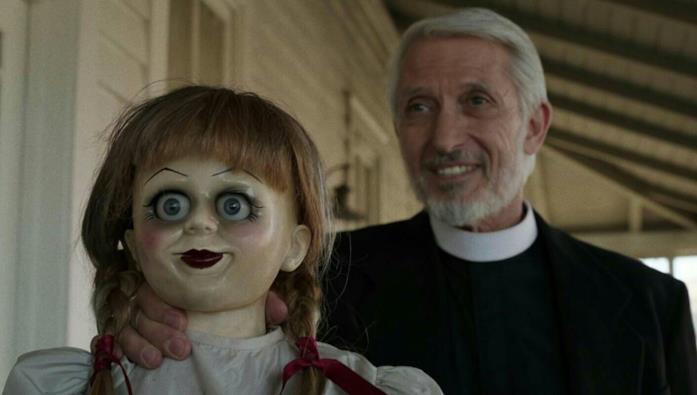 La bambola in una delle scene finali di Annabelle: Creation