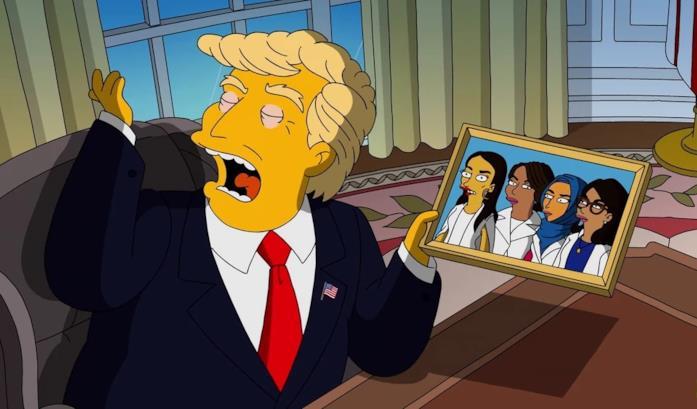 Una sequenza dell'episodio dei Simpson West Wing Story