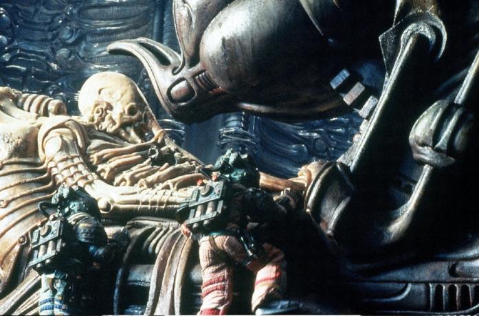 Il cadavere di un ingegnere in Alien