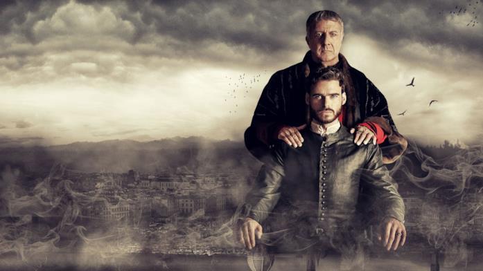 Dustin Hoffman e Richard Madden ne I Medici