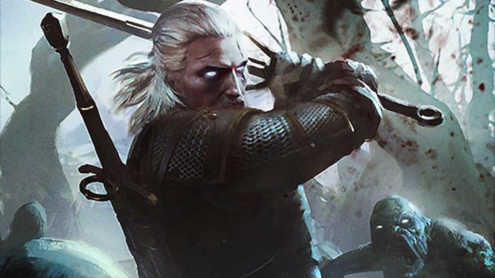 Il witcher Geralt durante una caccia ai Ghoul