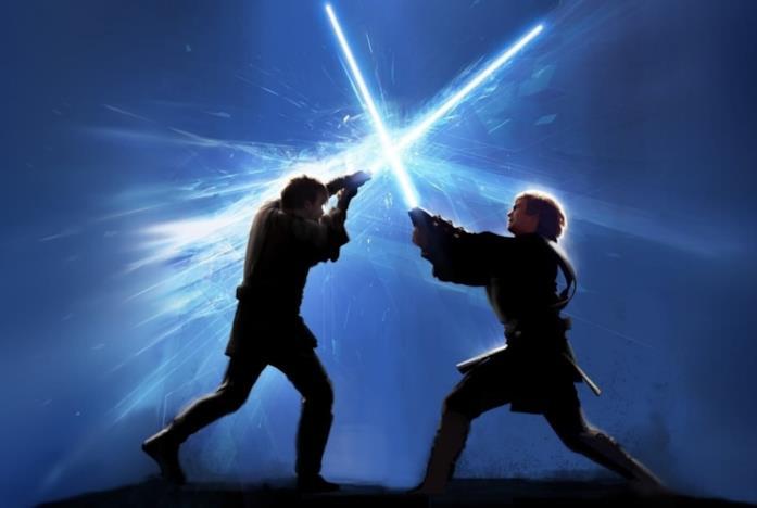 Duello con le spade laser