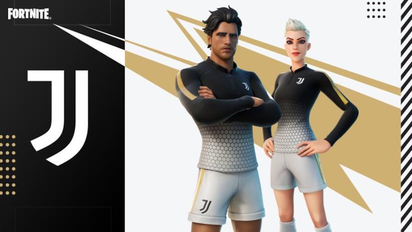 Immagine promozionale della skin a tema Juventus di Fortnite