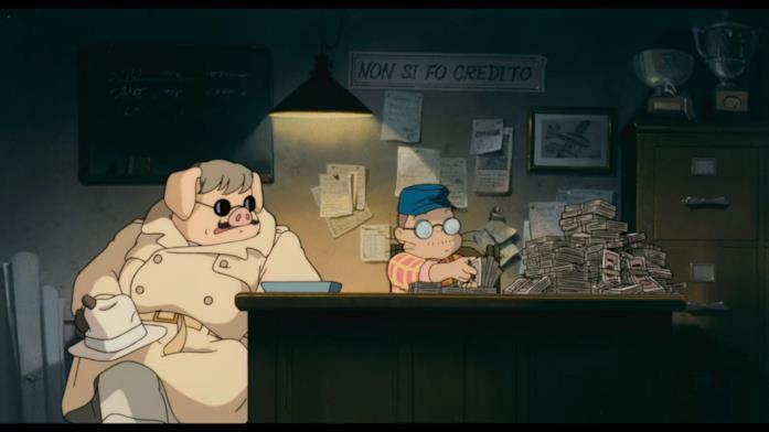 Marco all'interno delle Officine Piccolo col signor Piccolo alla scrivania