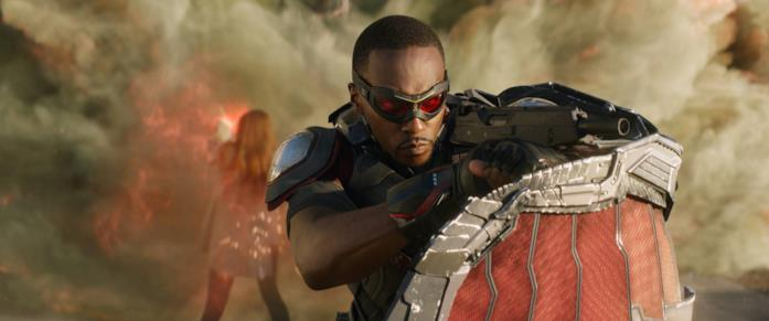 Anthony Mackie nei panni di Sam Wilson/Falcon in Avengers: Infinity War