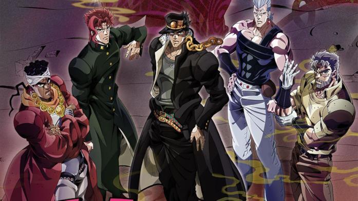 Jotaro Kujo e gli altri protagonisti serie 3