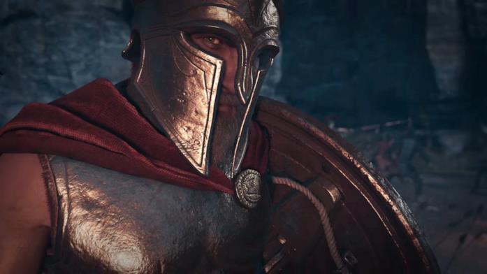 Un primo piano di Leonida in Assassin's Creed Odyssey