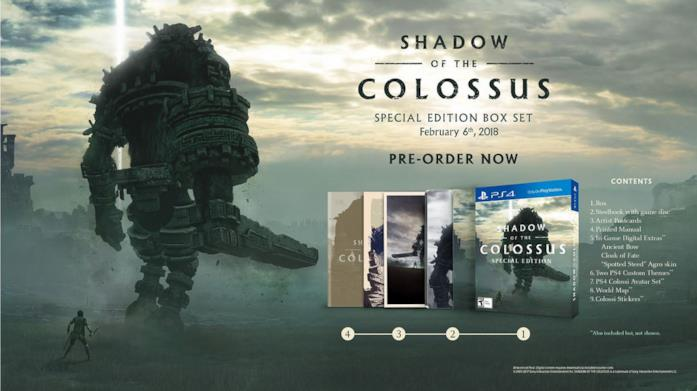 La Special Edition di Shadow of the Colossus per PlayStation 4