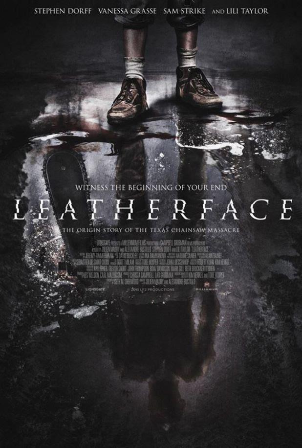 Il poster ufficiale di Leatherface