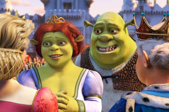 Shrek e Fiona in Shrek 2