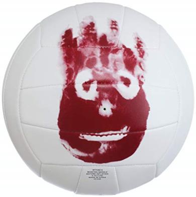 Wilson, Palla da pallavolo, Castaway, Bianco, Mr. Wilson, Pelle sintetica, WTH4615XDEF