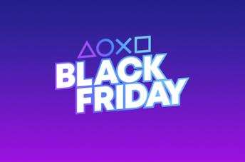 I simboli PlayStation e il logo per suo Black Friday 2020