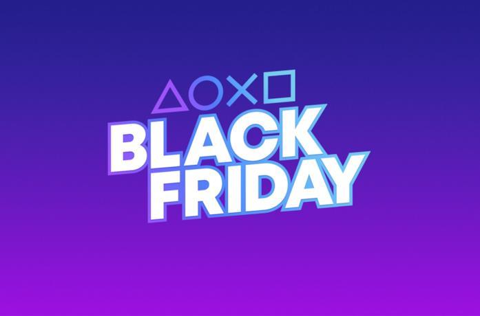 I simboli PlayStation e il logo per suo Black Friday 2020
