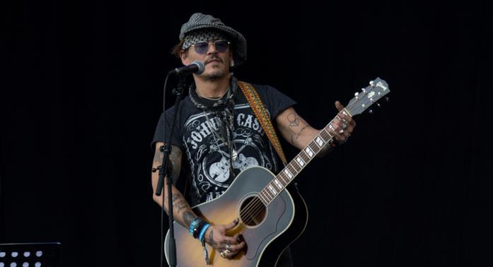 Johnny Depp al Festival di Glastonbury