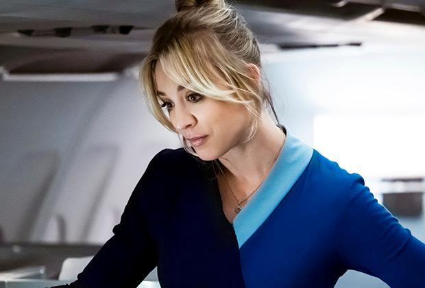 Primo piano di Kaley Cuoco in The Flight Attendant